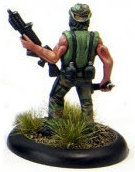 Modern soldier with knife and automatic rifle - Dogs of War #7 from Rogue Miniatures