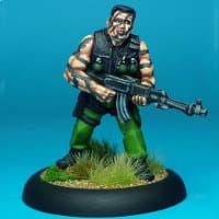 Modern soldier with automatic rifle - Green Beret from Rogue Miniatures