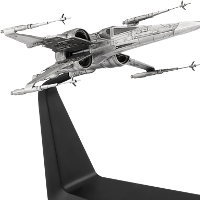 Flyer in 1/59 scale - X-Wing Starfighter Pewter Collectible for Star Wars from Royal Selangor - Miniature vehicle review