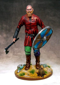 Huge warrior with axe and shield (Ragnarok Viking) from Sebitar Workshop - Miniature figure