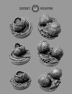 Alien eggs (Objective Markers: Alien Invasion) from Secret Weapon - Miniature scenery review