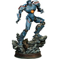 Humanoid robot in 1/200 scale - Gipsy Danger statue for Pacific Rim from Sideshow Collectibles, 2013 - Miniature figure review