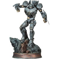 Humanoid robot in 1/200 scale - Striker Eureka statue for Pacific Rim from Sideshow Collectibles, 2013 - Miniature figure review