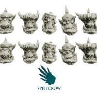 Armoured Orcs Heads set from Spellcrow, 2012