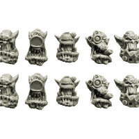 Bulky Orcs Cyber Heads set from Spellcrow, 2013