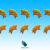 Dragon Knights Crests set in 1/56 scale - Salamandra / Dragons Crests) from Spellcrow, 2015 - Miniature accessory set review