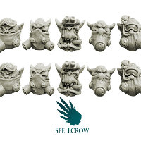 Orks Heads in Gas Masks set from Spellcrow, 2012