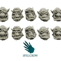 Orks Storm Flying Squadron Heads v1 set from Spellcrow, 2012