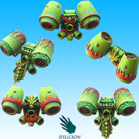 Salamandra/Dragon Space Knights Jump Packs set from Spellcrow, 2015