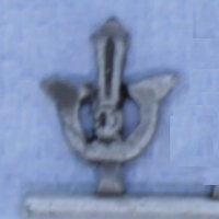 Helmet crest ornament in 1/56 scale - Samurai helmet crest #1 from Steel Fist Miniatures - Miniature accessory review