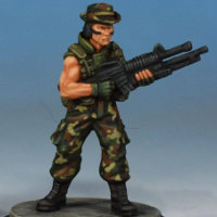 Modern soldier with automatic rifle - Spec Ops #2 from Studio Miniatures, 2018