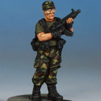 Modern soldier with submachine gun - Spec Ops #3 from Studio Miniatures, 2018