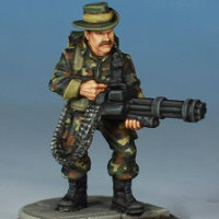 Modern soldier with rotary cannon - Spec Ops #4 from Studio Miniatures, 2018