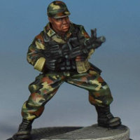 Modern soldier with machine gun - Spec Ops #5 from Studio Miniatures, 2018