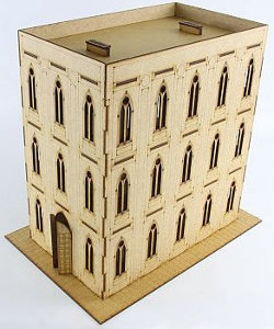 Gothic building in 1/56 scale - Gothic Building I (flat roof) from Terrains4Games
