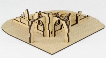 Ruin of gothic building in 1/56 scale - Gothic City Ruin C from Terrains4Games