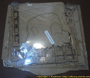 Ruin of gothic building in 1/56 scale - Gothic City Ruin E from Terrains4Games