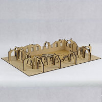 Ruin of gothic building in 1/56 scale - Gothic City Ruin G from Terrains4Games
