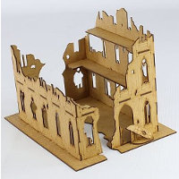Ruin of gothic building in 1/56 scale - Gothic Ruin 1 from Terrains4Games