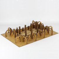 Ruin of gothic building in 1/56 scale - Gothic Ruined Sanctuary with columns from Terrains4Games