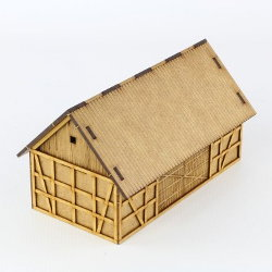 Village building in 1/56 scale - Barn 28mm for Village 28mm from Terrains4Games - Miniature scenery review