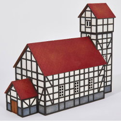 Church in 1/56 scale - Church 28mm for Village 28mm from Terrains4Games, 2018 - Miniature scenery review