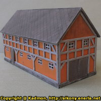 Village building in 1/56 scale - Cowshed 28mm for Village 28mm from Terrains4Games - Miniature scenery review