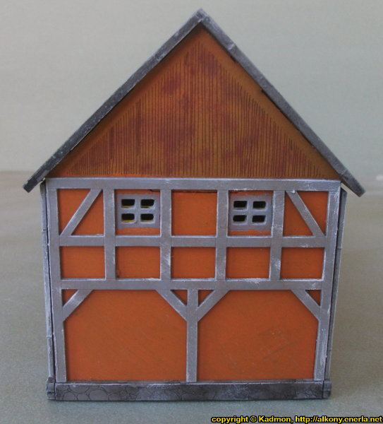 Timber frame village building in 1/56 scale - Cowshed 28mm for