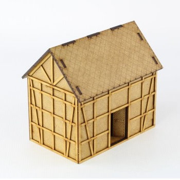 Timber frame village building in 1/56 scale - Granary 28mm