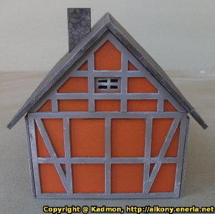 Village building in 1/56 scale - House 28mm for Village 28mm from Terrains4Games - Miniature scenery review