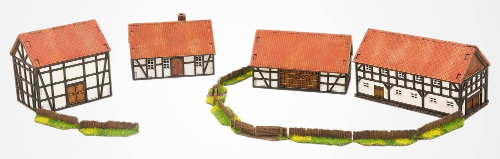 Village 28mm set from Terrains4Games - Miniature scenery set review