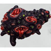 Blob with multiple mouthes in 1/56 scale - Shoggoth for Strange Aeons from Uncle Mike's Worldwide, 2016 - Miniature creature review