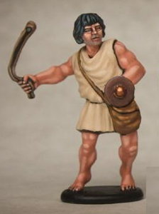 Warrior with sling in 1/56 scale - Greek Slinger build #2 for Warriors of Antiquity from Victrix - Miniature figure review