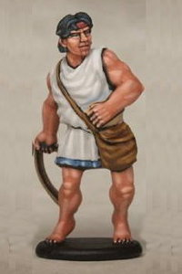 Warrior with sling in 1/56 scale - Greek Slinger build #3 for Warriors of Antiquity from Victrix - Miniature figure review