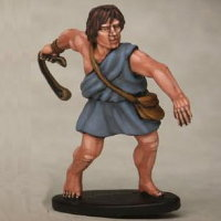 Warrior with sling in 1/56 scale - Greek Slinger build #5 for Warriors of Antiquity from Victrix - Miniature figure review