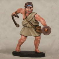Warrior with sling in 1/56 scale - Greek Slinger build #6 for Warriors of Antiquity from Victrix - Miniature figure review