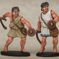 Warrior with sling in 1/56 scale - Greek Slinger for Warriors of Antiquity from Victrix - Miniature figure review