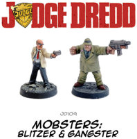 Judge Dredd Mobsters set for the Judge Dredd Miniatures Game from Warlord Games - Miniature set review