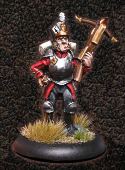 Albionnican Crossbow Trooper #1 for ArcWorlde from Warploque Miniatures