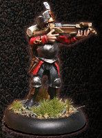 Albionnican Crossbow Trooper #2 for ArcWorlde from Warploque Miniatures