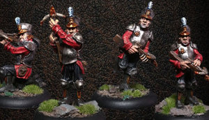 Albionnican Crossbowmen (4) from Warploque Miniatures - Miniature set