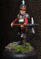 Albionnican Halberdier #1 for ArcWorlde from Warploque Miniatures