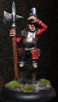 Albionnican Halberdier #4 for ArcWorlde from Warploque Miniatures