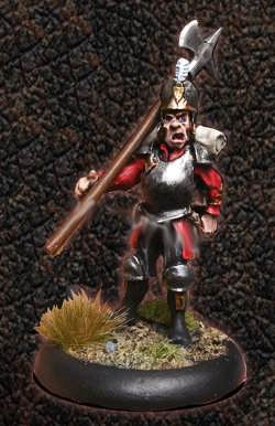Albionnican Halberdier Trooper for ArcWorlde from Warploque Miniatures