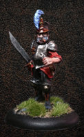 Albionnican Sergeant for ArcWorlde from Warploque Miniatures