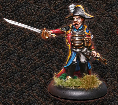 Captain Flynt for ArcWorlde from Warploque Miniatures