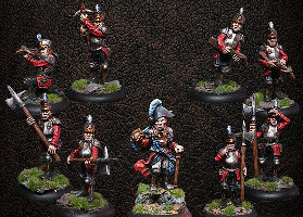 ArcWorlde - The Albionnican Empire Starter Warband from Warploque Miniatures - Miniature set