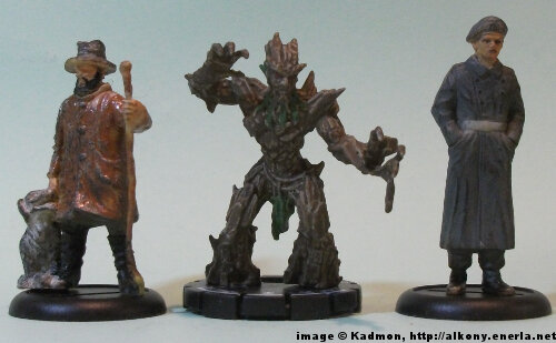 Oak Mage #047 for the Mage Knight from WizKids - 1:35 (54mm) comparison with 40mm high shepherd and 54mm high soldi