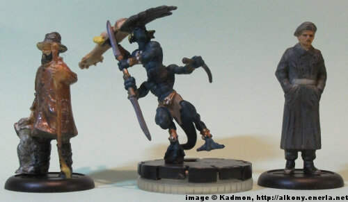 Quo'droma #209 for the Mage Knight from WizKids - 1:35 (54mm) comparison with 40mm high shepherd and 54mm high soldi