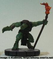 Large humanoid reptilian (Whelp Firecaster #031) from WizKids